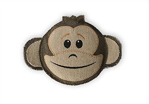 Thread Heads Monkey, Stuffingless Canvas Squeaky Dog Toy for Large and Small Dogs, No Stuffing, Giant Squeaker Inside - Fetch Pet Products