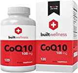 Built Wellness COQ10 Supplement, 100 mg, 120 Softgels, Heart Health