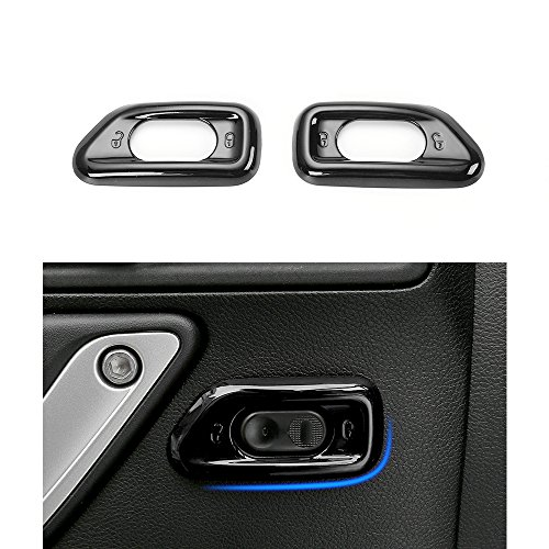 Black ABS Central Console Lock Switch Cover Trim for 2010 - 2017 Jeep JK Wrangler & Unlimited - 2 pcs