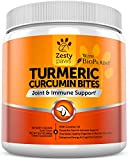 Image of Turmeric Curcumin Treats for Dogs - For Strong Hip & Joint Health - Digestive & Immune Support Supplements with BioPerine & Organic Turmeric + Coconut Oil - 90 Duck Flavored Soft Chews