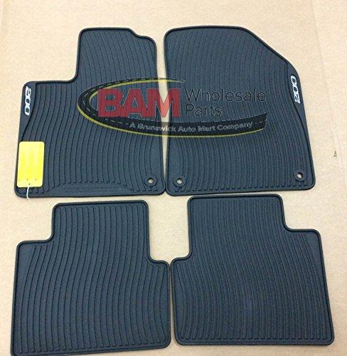 2015 chrysler 200 all weather rubber slush floor mats set of 4 front rear mopar genuine oem. Black Bedroom Furniture Sets. Home Design Ideas