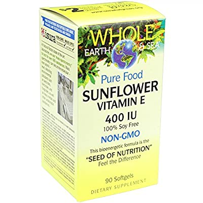 Whole Earth & Sea - Sunflower Vitamin E 400 IU, 90 Soft Gels