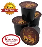 100% Pure Kona Single-Serve Cups for Keurig K-cup Brewing...