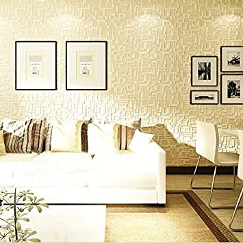 Modern Wallpaper, Textured Removable and Waterproof for Home Design and  Room Decoration, Super Large Size 10m x 0.53m / 393.7\'\' x 21\'