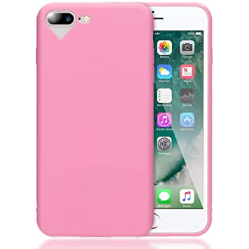 NALIA Funda Corazón Compatible con iPhone 7 Plus / 8 Plus, Carcasa Protectora Movil Silicona Ultra-Fina Gel Bumper Estuche, Goma Cubierta Cobertura Delgado Cover Phone Case, Color:Pink Rosa: Amazon.es: Electrónica