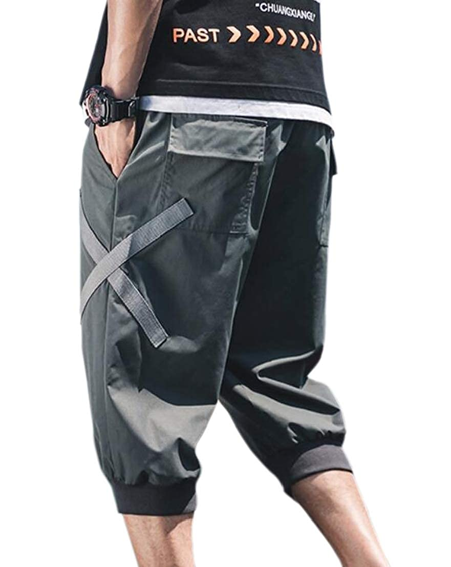 Alion Mens Casual Loose Harem Light Weight Trouser with Pocket