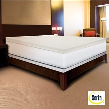 serta rejuvenator duallayer 4inch memory foam mattress topper in cal king