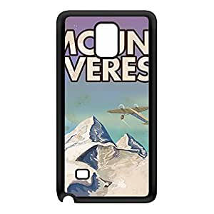 Mount Everest Black Silicon Rubber Case for Galaxy Note 4 by Nick Greenaway + FREE Crystal Clear Screen Protector