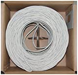 Offex Plenum Cat5e Bulk Cable, Solid, UTP 24 AWG, Pullbox, 1000-Foot, White, (OF-11X6-091TH)