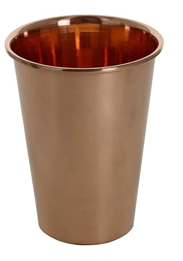 SKAVIJ Pure Copper Tumbler Glass for Healing Ayurvedic Product, Capacity 12 Ounce Glassware & Drinkware at amazon