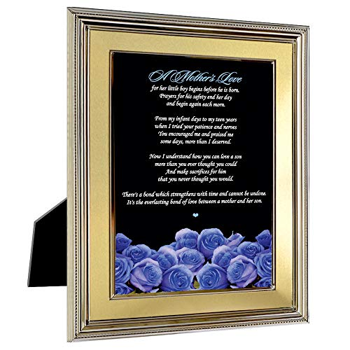 Best Mother Gift from Son - Blue Roses with Mom Poem for Birthday - Mom Birthday Poem