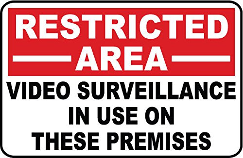 Restricted Area - Video Surveillance...SECURITY SIGN- #PS-402 from Great American Signs