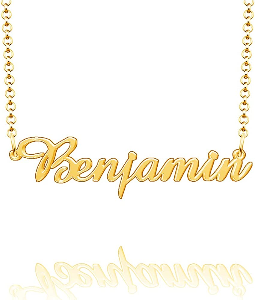 LoEnMe Jewelry Personalized Parsons Name Necklace Stainless Steel Plated Custom Made of Last Name Gift for Family