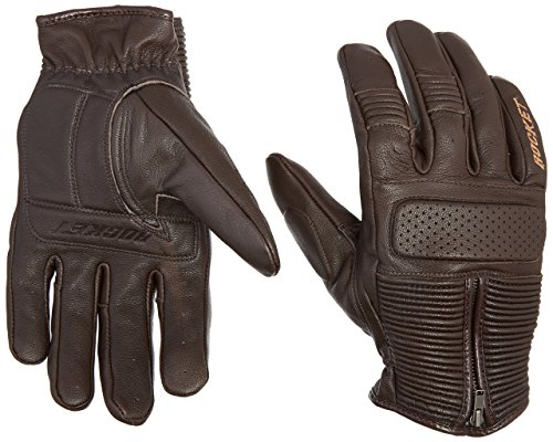 - Joe Rocket Men's Café Racer Motorcycle Gloves (Brown, Large)