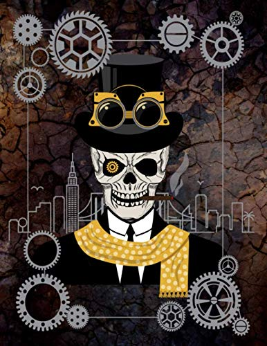 (Steampunk Leroy Out On The Town - Sketchbook: White Pages With Light Grey Frames For Drawing, Doodling or Scrapbooking)