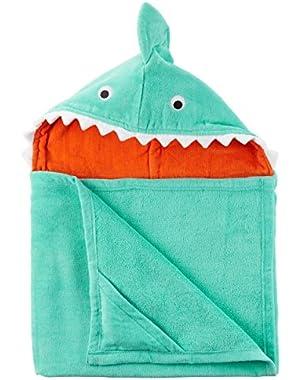Carter's Boys' Shark Hooded Towel, Blue