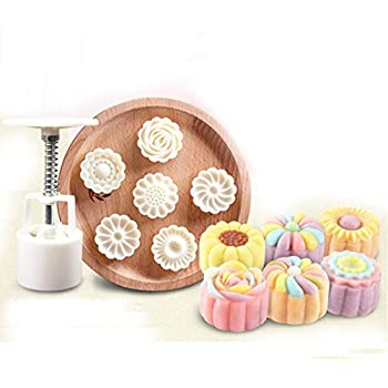 Amazon.com: Giftshop12 Mooncake Mold Traditional White ...