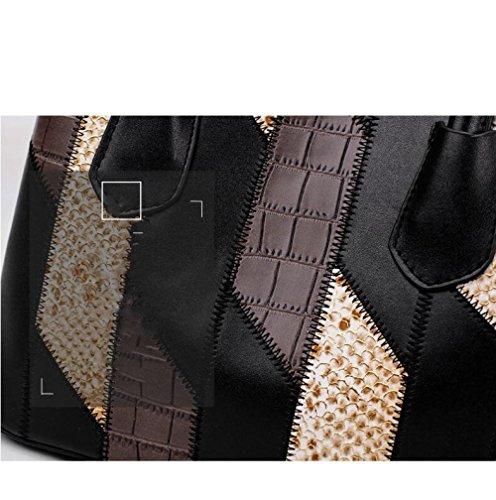 Hit Couleur Bandoulière Main PU Sac Crossbody Sacà à Fashion BAILIANG Stylishgray Womens 8OqwSx4SU