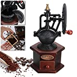 Raza Hot Sale Ferris Wheel Design Vintage Manual Coffee Grinder With Ceramic Movement Retro Wooden Coffee Mill For Home Decoration