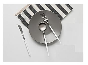 kosney beutipol casa cena cubiertos cubiertos Set de 3 piezas, cuchara, tenedor, cuchillo, profesional cubertería marca: Amazon.es: Hogar
