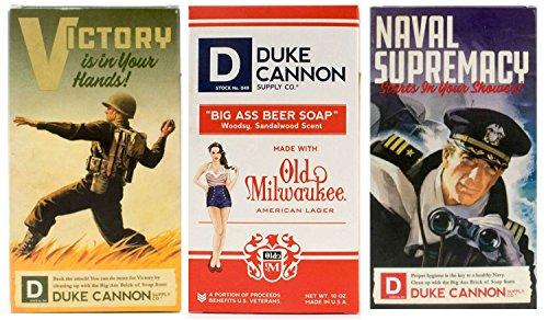 Duke Cannon Limited Edition WWII Era Big Brick of Soap for Men, 10oz. - Variety Set, 3 Bars