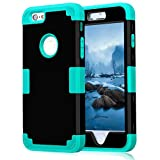 iPhone 6s Case,iPhone 6 Case,Soft Interior Silicone Rubber Bumper Hard Shell Solid PC Back,Shock-Absorption Anti-Scratch Hybrid Heavy Duty Dual-Layer Slim Cover for Apple iPhone 6 6S 4.7-Black Teal