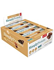 SimplyProtein Bar, 1g Sugar, Plant Based, Dairy Free - Peanut Butter Chocolate 12 Count