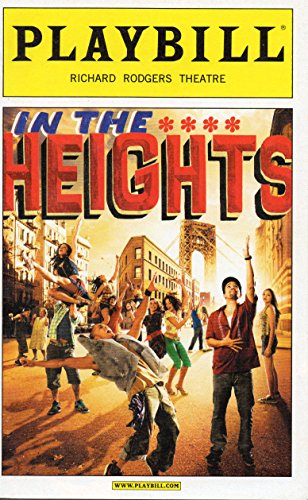 In The Heights Playbill for the Original Broadway Production - Richard Rodgers Theatre - April 2009