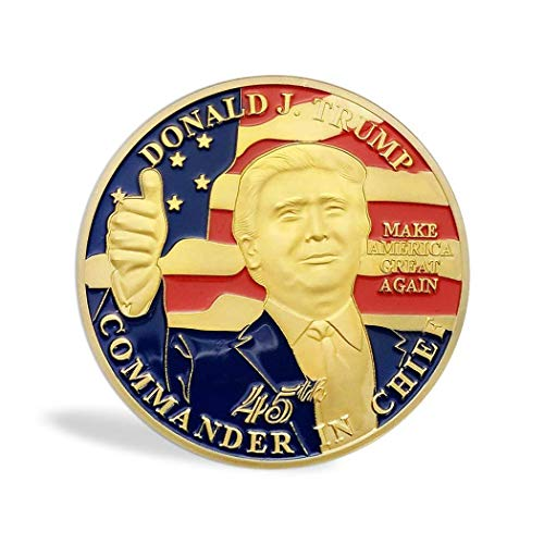 LEANO Round Shape US President Pattern Commemorative Coin Collection Item Coins ()