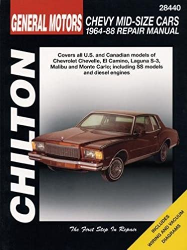 gm chevrolet mid size cars 1964 88 chilton total car care series rh amazon com 1982 El Camino 1981 El Camino