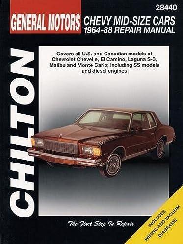 gm chevrolet mid size cars 1964 88 chilton total car care series rh amazon com 1976 El Camino 1979 El Camino