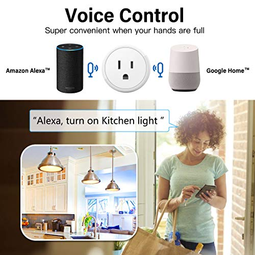 WiFi Smart Plug - Smart Outlets Work With Alexa, Google Home & IFTTT, Aoycocr Remote Control Plugs with Timer Function,ETL/FCC/Rohs Listed Socket, White(1 Pack)