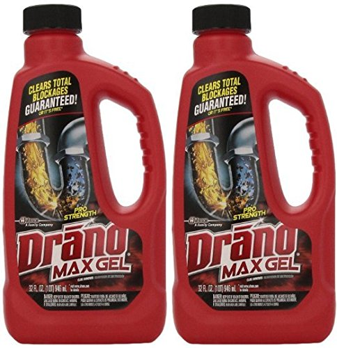 Drano 701722747197 00117-2PK Max Clog Remover (Pack of 2), 32 oz, 2Pack (32 Ounce), 64 Fl Oz