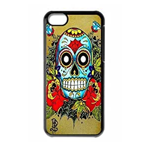 ALICASE Diy Hard Shell Case Sugar Skull For Iphone 5C [Pattern-1]