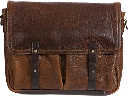 - Legacy American Bison Leather Messenger Briefcase with Concealed Carry Pocket