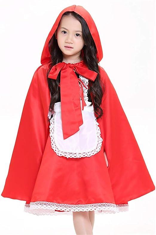 KTYX Vestido De Caperucita Roja para Niños Disfraz De Halloween ...
