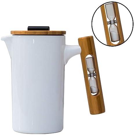 Amazon.com: Prensa francesa de cerámica| Cafetera/Prensa de ...