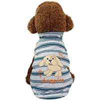 Litetao Fall Cute High-necked Dog Pet Stripe Clothing Small Puppy Soft Print Costume