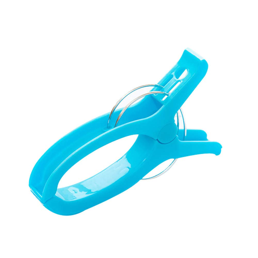 ️ Yu2d ❤️❤️ ️2 Pcs Large Bright Colour Plastic Beach Towel Pegs Clips to Sunbed Quilt Clips