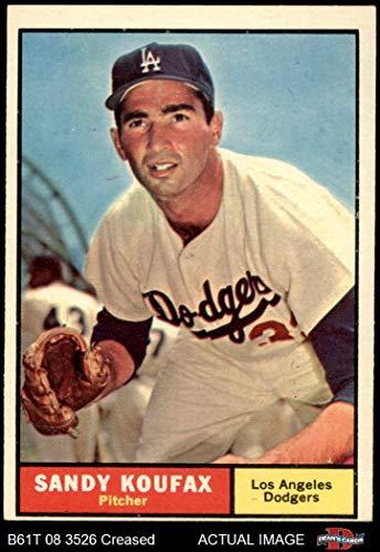 1961 Topps # 344 Sandy Koufax Los Angeles Dodgers (Baseball Card) Dean's Cards 3 - VG Dodgers