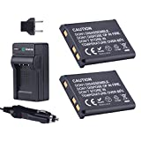 Smatree Replacement Battery(2-pack) + Battery Charger + Car Charger for Nikon EN-EL10, Coolpix S60, S80, S200, S210, S220, S230, S500, S510, S520, S570, S600, S700, S3000, S4000, S5100