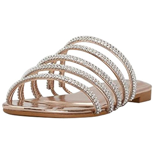 Davids Bridal Strappy Jeweled Glissières Plates Style Magnificant08s Rose