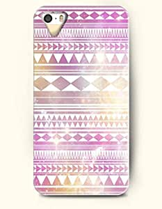 OOFIT Aztec Indian Chevron Zigzag Pattern Hard Case for Apple iPhone 4 4S ( Retro Purple Aztec Pattern )