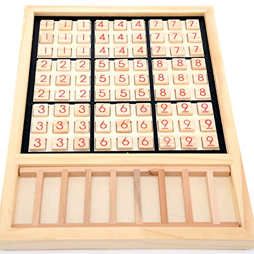 eroute66 Wooden Sudoku Chess Digits 1 to 9 Desktop Games Adult Kids Puzzle Education Toys by eroute66 (Image #1)