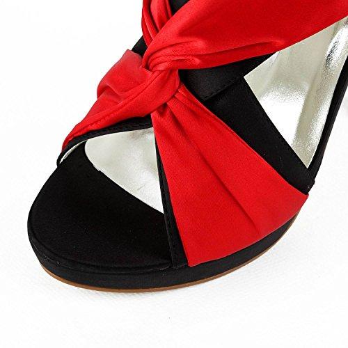 Minitoo - plataforma mujer Rojo - rojo