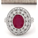 Women Fashion Jewelry 925 Sterling Silver Ruby Gem Wedding Bridal Ring Size 5-11#by pimchanok shop (7)