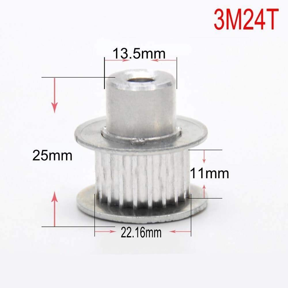 3M80T 3.0Mod 80T Pitch 3mm Tooth Width 11mm Timing Belt Pulley Synchronous Wheel For 10mm Width Belt