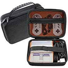 SUNMON SNES Classic Carrying Case - Portable Traveling Case for Nintendo Super Entertainment System Mini - Holds SNES Mini Console, 2 Controllers and HDMI Cable Accessories