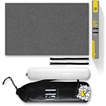 Premium Puzzle Mat for jigsaw puzzles. Beautiful Grey Higher Quality felt lays flat with no creases for your enjoyment. This Jigsaw Puzzle Mat roll up storage will fit 500 1000 1500 piece jigsaws