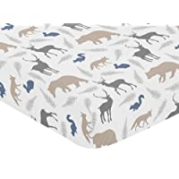 Sweet Jojo Designs Fitted Crib Sheet for Woodland Animals Baby/Toddler Beddin...